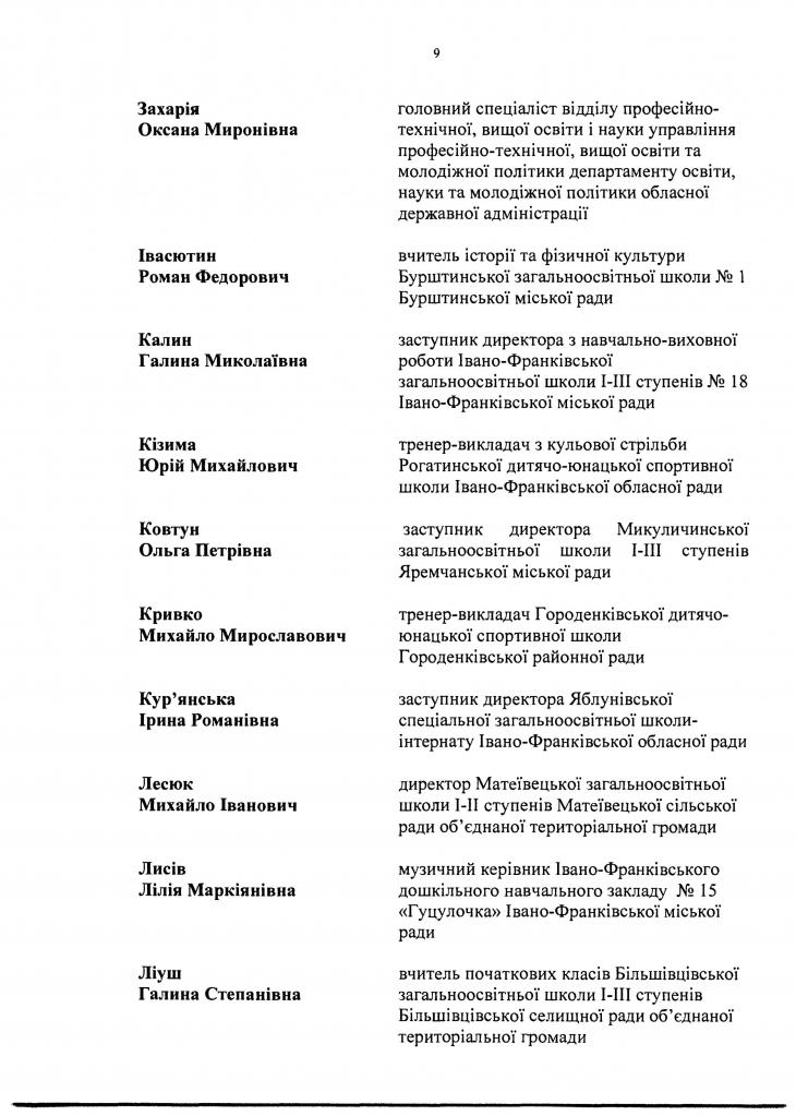 90 прикарпатських освітян отримають премії до Дня вчителя. СПИСОК 14