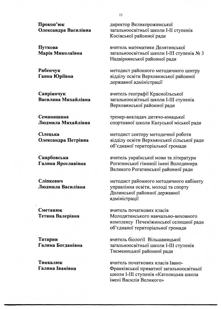 90 прикарпатських освітян отримають премії до Дня вчителя. СПИСОК 18
