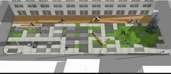 """Міськрада дає 3,4 млн грн на сквер біля друкарні – """"Тепле місто"""" обіцяє """"безкомпромісну якість"""" 2"""
