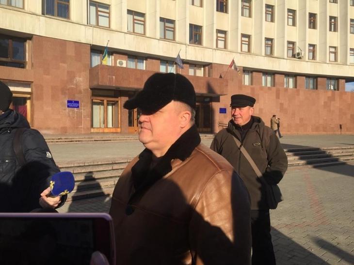 """""""Висловлюємо свою неповагу до теперішньої влади"""", – у Франківську пенсіонери силових відомств вийшли на протест. ФОТО 1"""