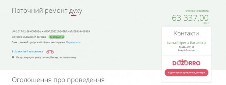 """Грудневі жнива на Прикарпатті: операція """"Поточний ремонт дУху"""" та інші пригоди в закупівлях 40"""