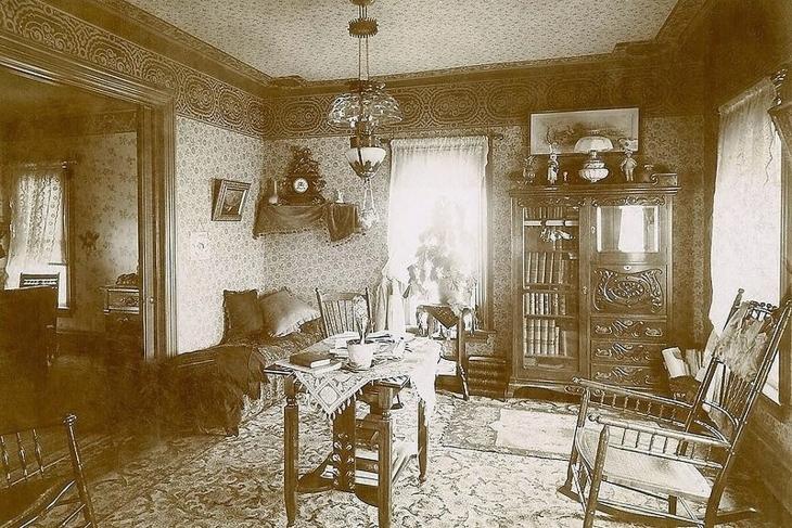 Приблизно так виглядало помешкання в 1900 р.