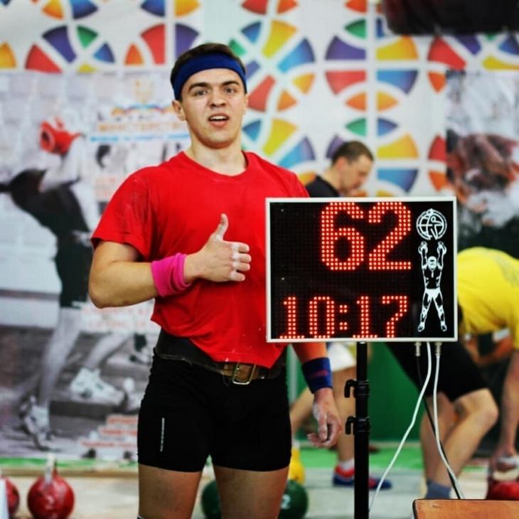 Студент з Франківська став чемпіоном України з гирьового спорту (фоторепортаж)