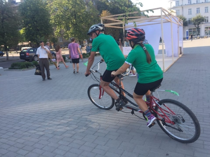 9 днів на велосипеді: У Франківську стартував унікальний велопробіг для незрячих. ФОТО 4