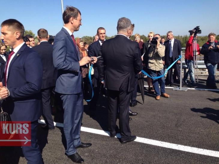 Петро Порошенко відкриває міст
