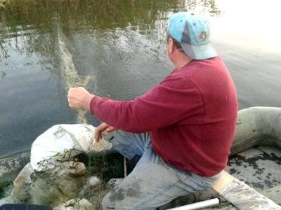 На Лімниці спіймали браконьєра, який сітками ловив рибу (фото)