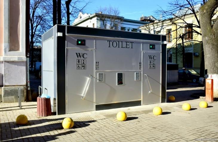 П'ять нових вбиралень встановлять в центрі Франківська  (список адрес)