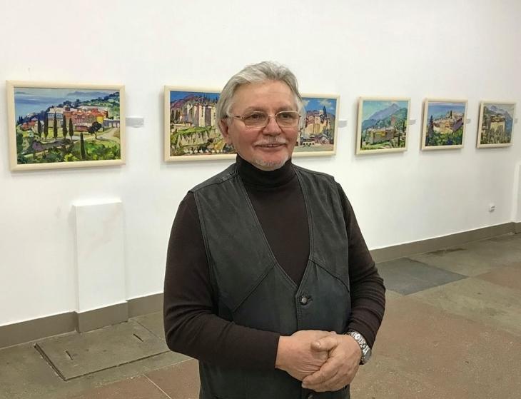 Виставку картин Василя Красьохи відкрили в Івано-Франківську (відео)