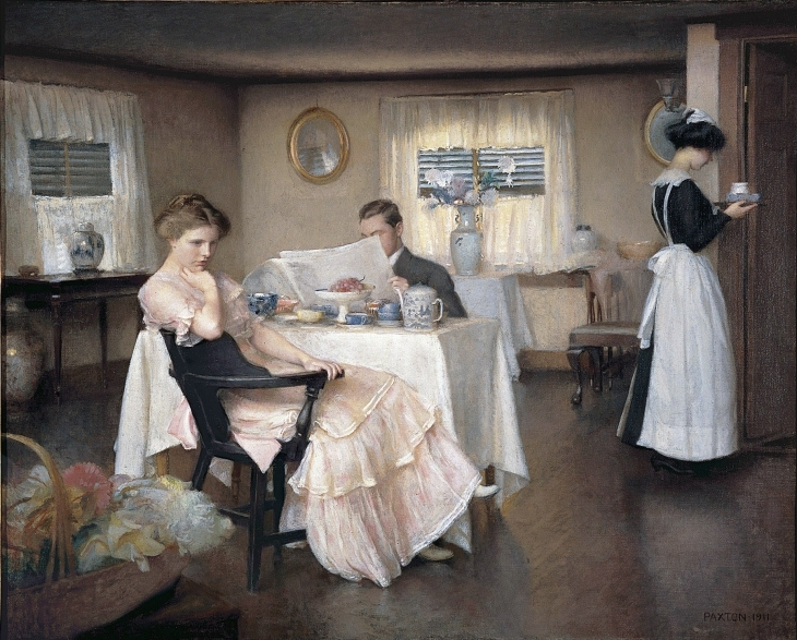 Недружна сімейна пара за сніданком. Картина, 1911 р.