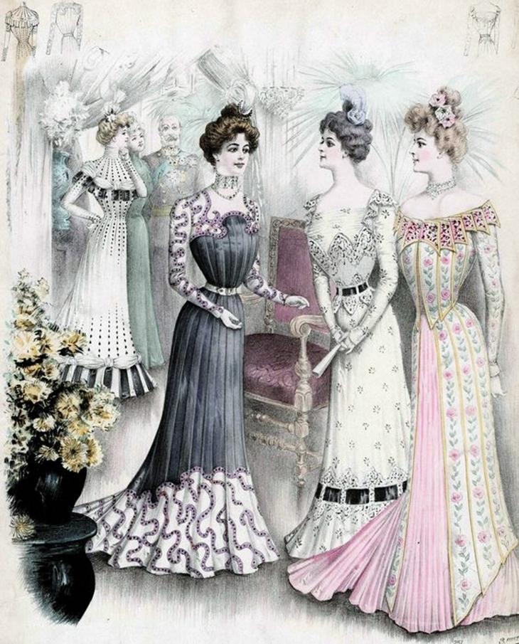 В ХІХ ст. жінки були салонними ляльками.