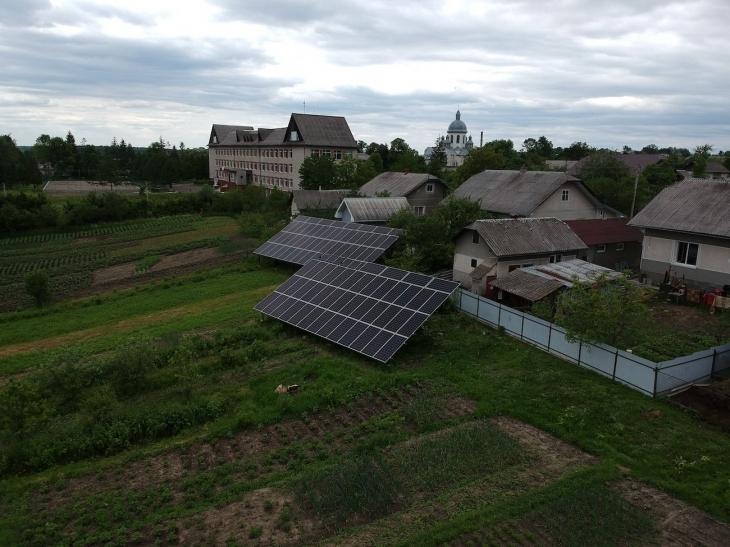 Сонячну електростанцію для дому потужністю 30 кВт встановлено в Лісному Хлібичині 1