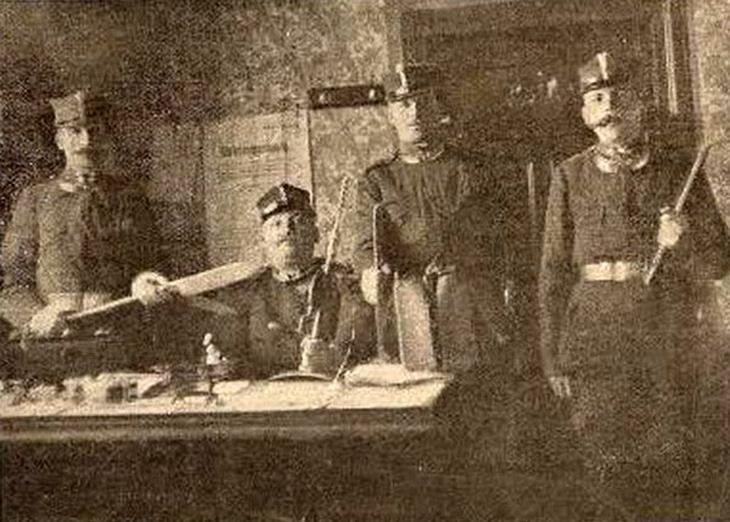 Підлеглі інспектора Войтасевича, які брали участь у затриманні банди ведмежатників.