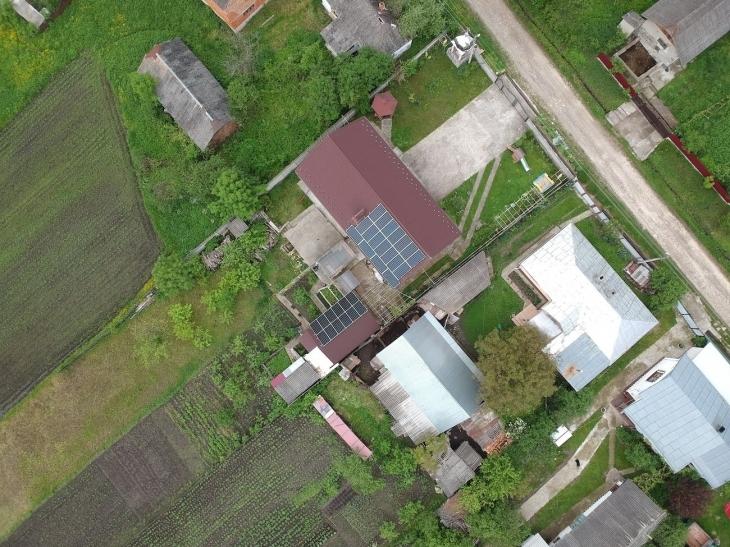 Сонячну електростанцію для дому потужністю 8 кВт встановлено в Узині 1