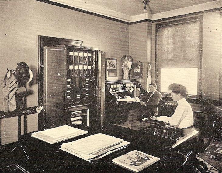 Приблизно так виглядав офіс на поч. ХХ ст.