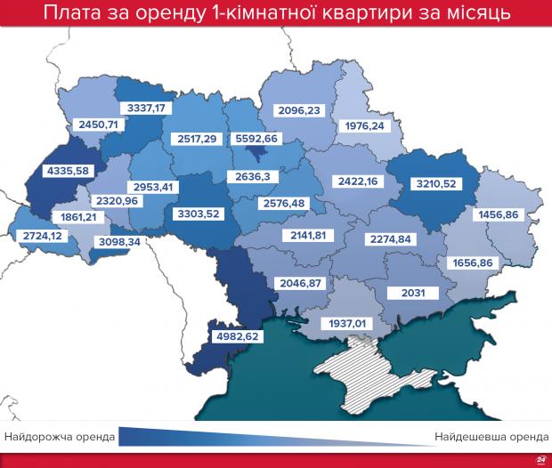 На Прикарпатті найнижчі ціни на оренду квартир після Луганської та Донецької областей 1