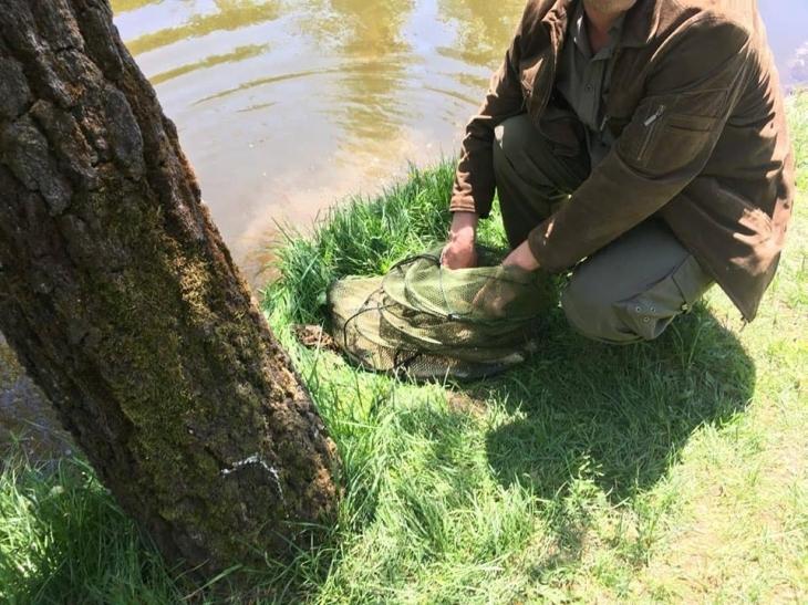У Франківську на міському озері спіймали браконьєра (фотофакт)