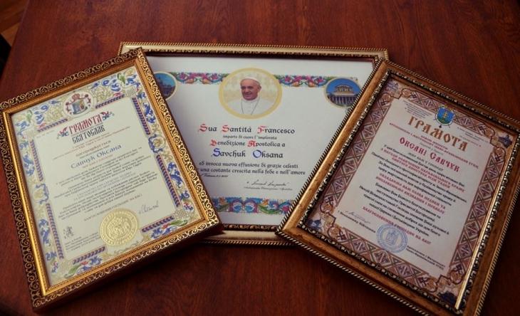 У Франківську відкрили храм – мера і секретаря міськради нагородили подяками Папи Римського. ФОТО 2