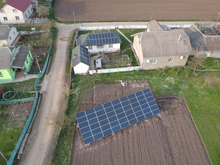 Сонячну електростанцію для дому потужністю 30 кВт встановлено в Нових Кривотулах 1