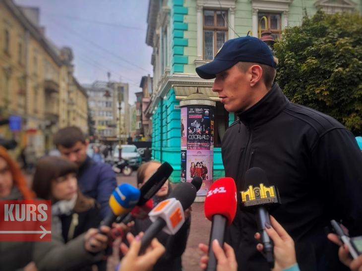 Начальник Управлінян патрульної поліції м. Івано-Франківськ Дмитро Міхалець