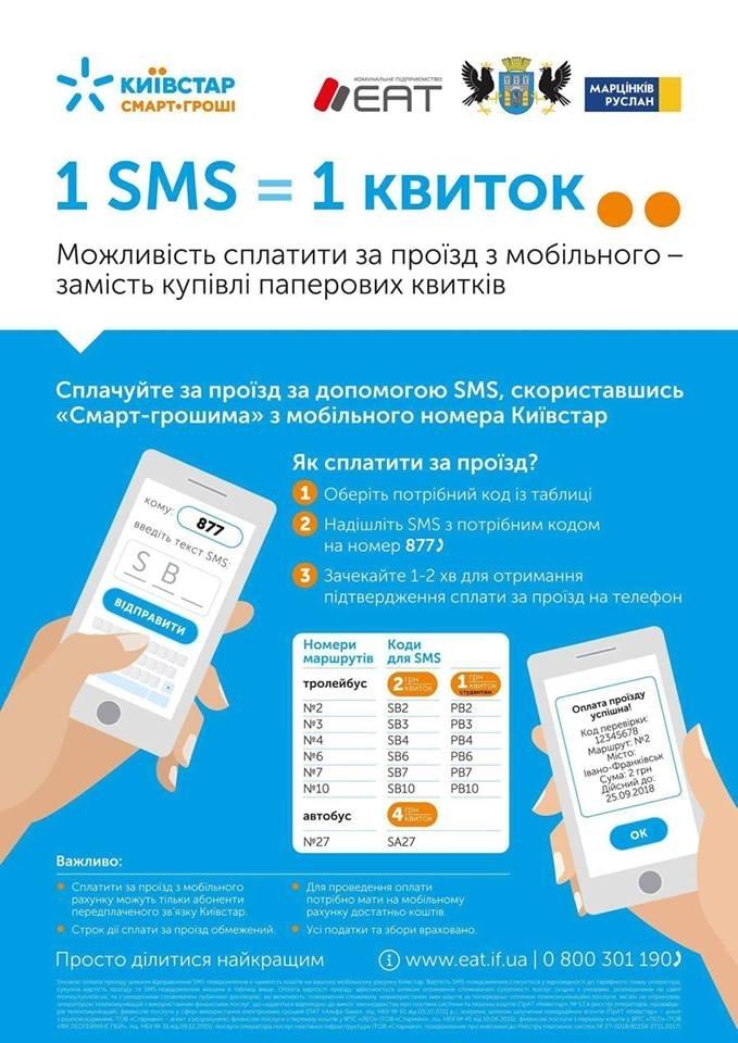 В Івано-Франківську майже тисяча пасажирів комунального транспорту придбали квитки через SMS 2