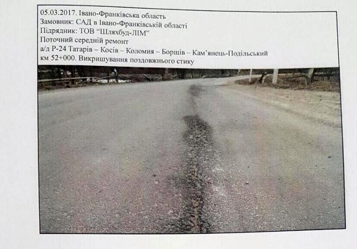 Викришування, лущення, зсуви полотна: недавно відремонтована дорога Татарів – Косів – Коломия вже потребує нового ремонту, – експертиза 2