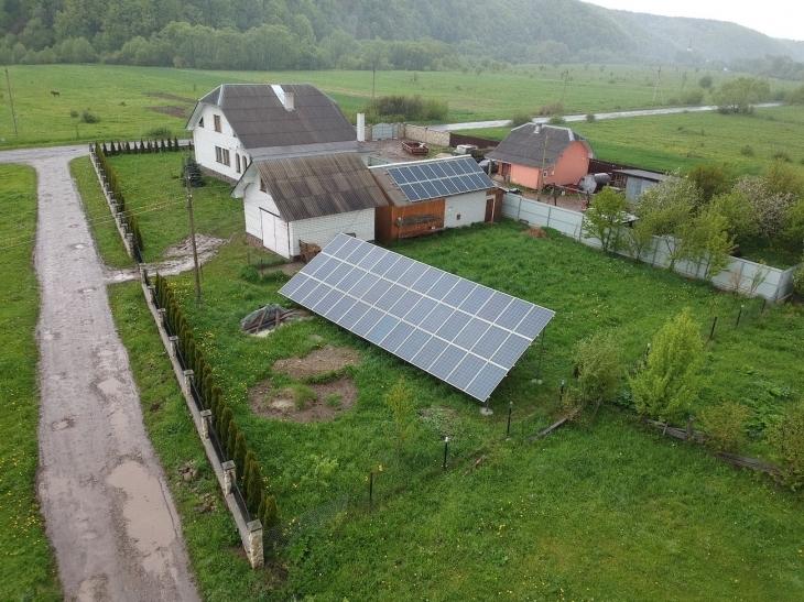 Сонячну електростанцію для дому потужністю 20 кВт встановлено в Вигодівці 2