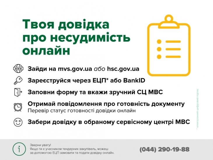 Українці можуть замовляти довідки про відсутність судимості онлайн 1