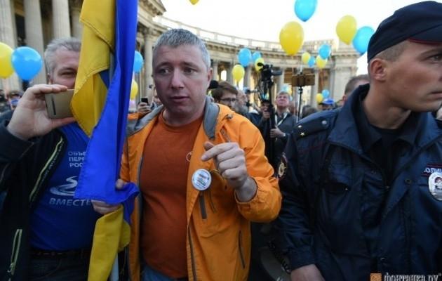 УСанкт-Петербурзі кілька сотень людей протестували проти війни зУкраїною