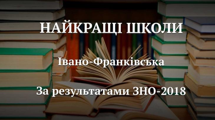 Уже відомий рейтинг шкіл Івано-Франківська за результатами ЗНО-2018 (інфографіка)