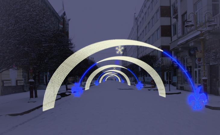 """Розіграли? Підприємець """"без досвіду"""" запропонував найменшу ціну на новорічні арки, які хочуть встановити на франківській стометрівці"""