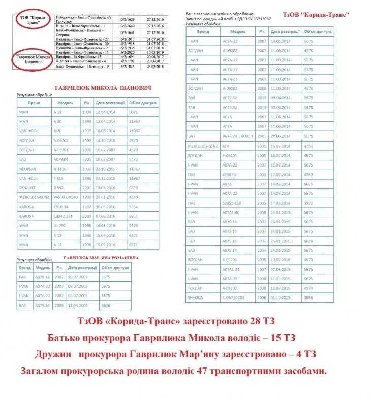 Пасажирські перевезення прокурорської родини Гаврилюків 7