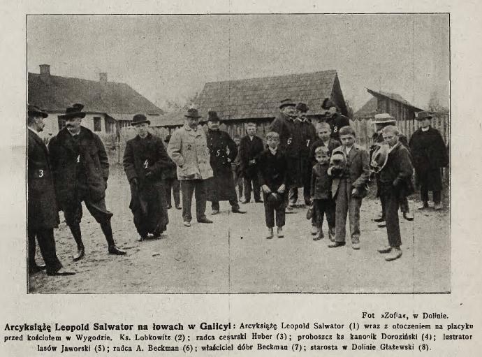 Як австрійський архикнязь Леопольд Сальватор з друзями у лісах під Вигодою полював 8