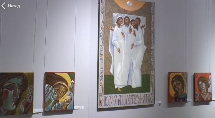 Сучасну ікону франківцям презентували студенти-випускники Інституту мистецтв (відеосюжет)