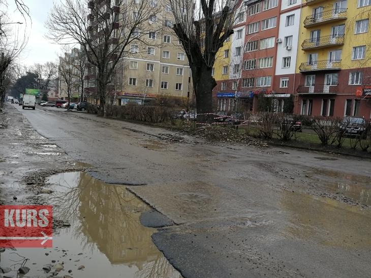 На ремонт 800 метрів вулиці Вовчинецької в Івано-Франківську витратять понад 20 млн грн