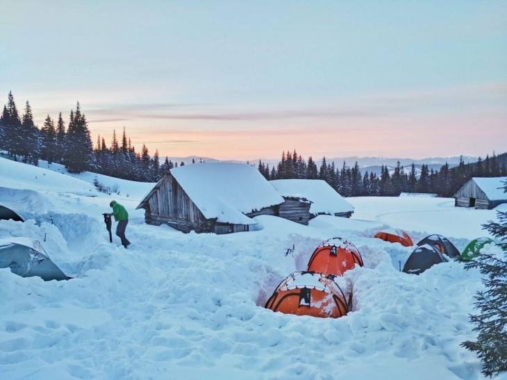 """""""Лісові Чорти"""" провели на Прикарпатті чотириденний вишкіл із зимового мандрівництва. ФОТО 2"""