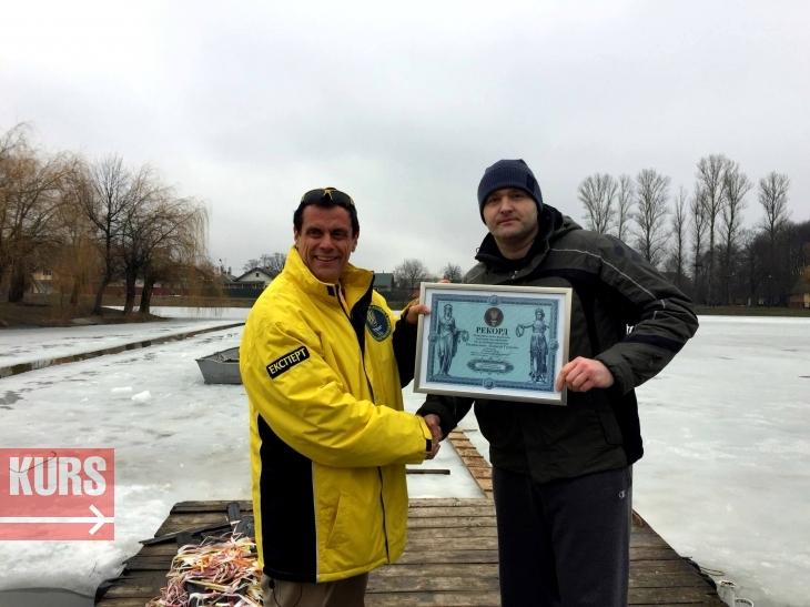 Коломийський адвокат проплив під кригою 61 метр і встановив рекорд України. ФОТО, ВІДЕО 2