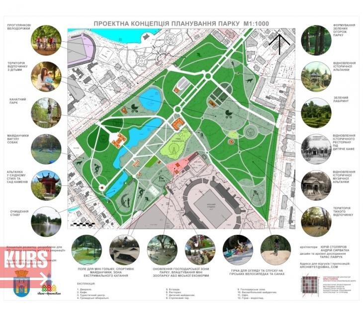 Концепція на 40 мільйонів: що планують зробити з парком у Франківську 1