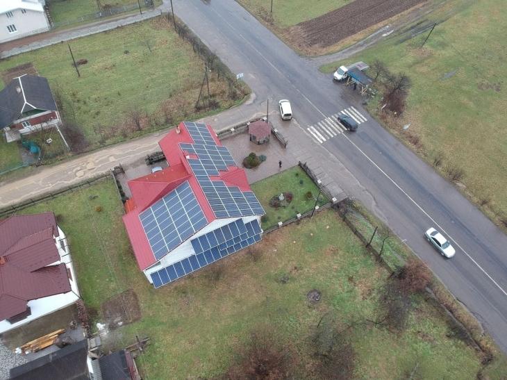 Сонячну електростанцію 35 кВт змонтували в Герині. ФОТО 1