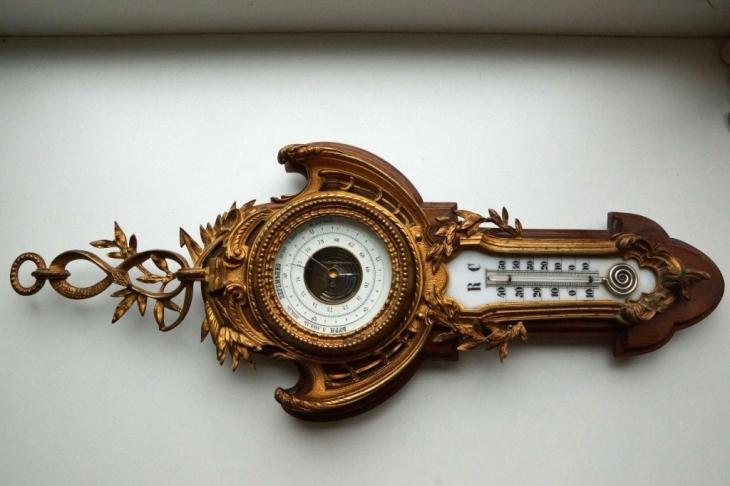 Термометр з подвійною шкалою і барометр. Поч. ХХ ст.