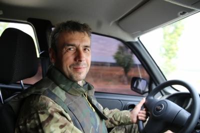 """Франківець Руслан Ганущак - військовий кореспондент і боєць батальйону """"Азов""""."""
