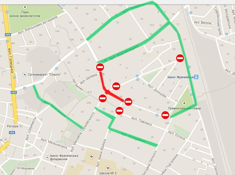 У Франківську через ремонт доріг перекриють кілька вулиць (карта об'їздів) 2