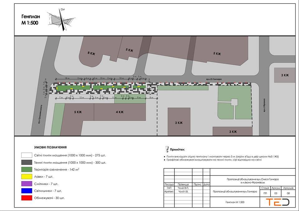 На тротуарі біля школи №5 у Франківську ліквідують стихійну парковку 1