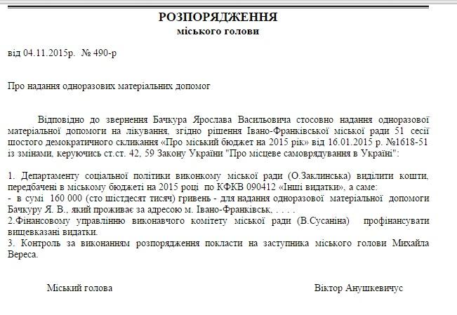 Мер Франківська виділив з бюджету двом депутатам міськради майже півмільйона гривень 2