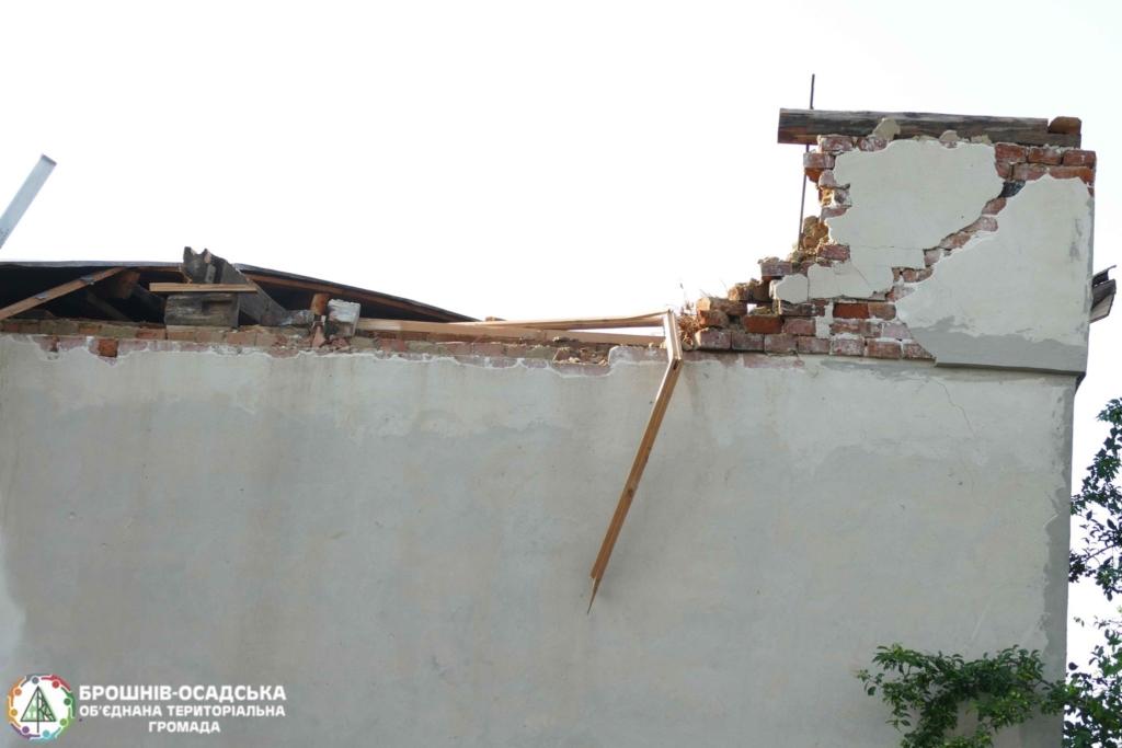 Через стихію родина у Брошнів-Осадській ОТГ залишилася без даху над головою 1