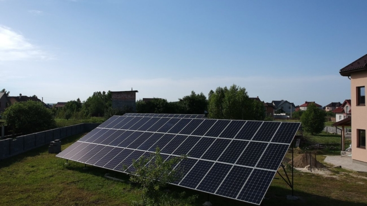 Сонячну електростанцію для дому потужністю 30 кВт встановлено в Драгомирчанах 4