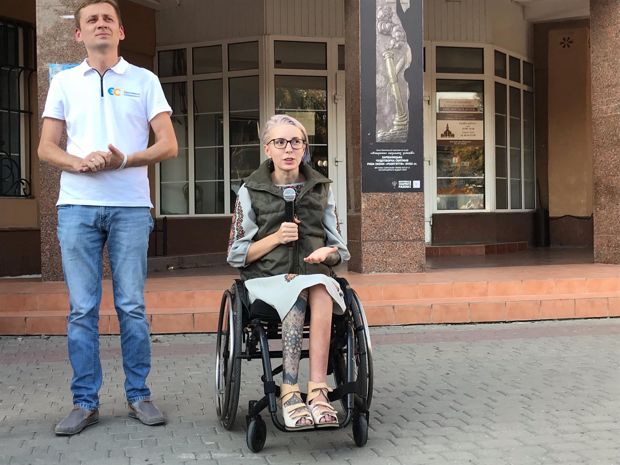 """З франківцями зустрілася легендарна """"госпітальєрка"""" Яна Зінкевич 1"""