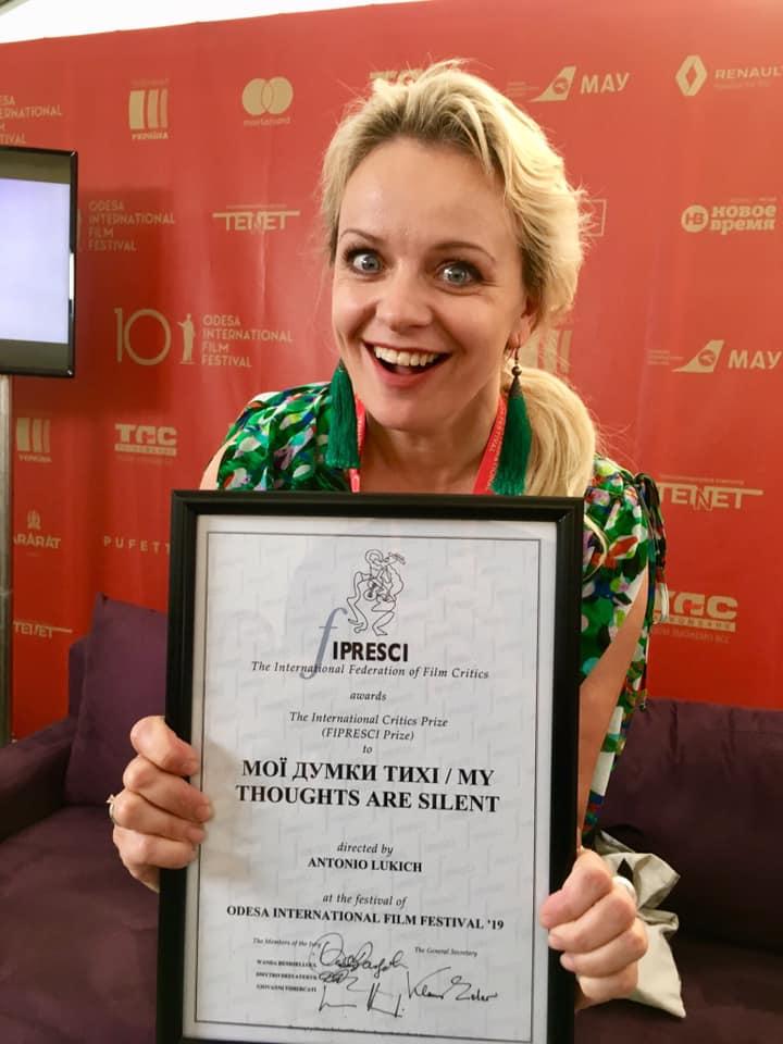 Ірма Вітовська отримала нагороду на Одеському міжнародному кінофестивалі 2