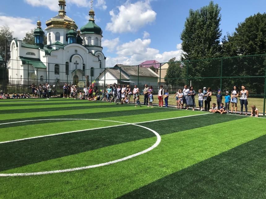 На Надвірнянщині відкрито 14-ий спортивний майданчик