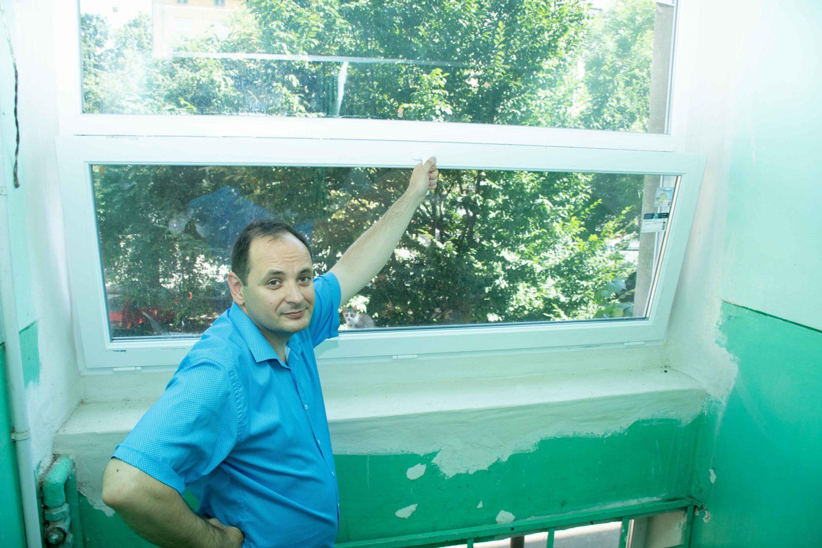 У трьох багатоквартирних будинках у Франківську замінюють вікна за програмою співфінансування 10
