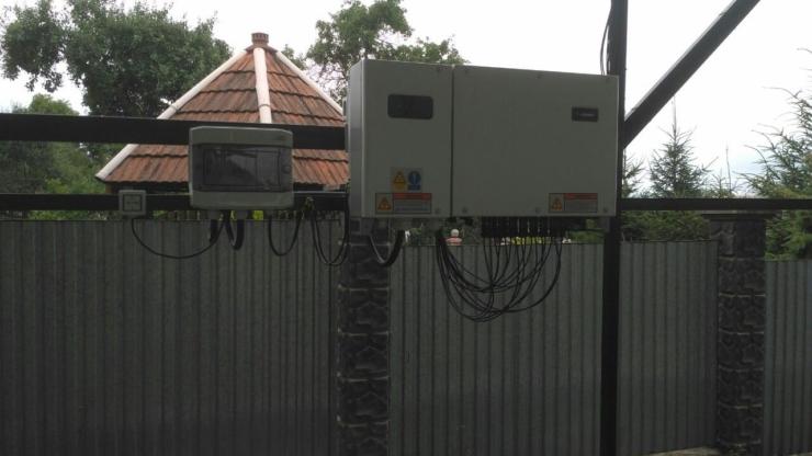 Сонячну електростанцію для дому потужністю 30 кВт встановлено в селі Конюшки 2